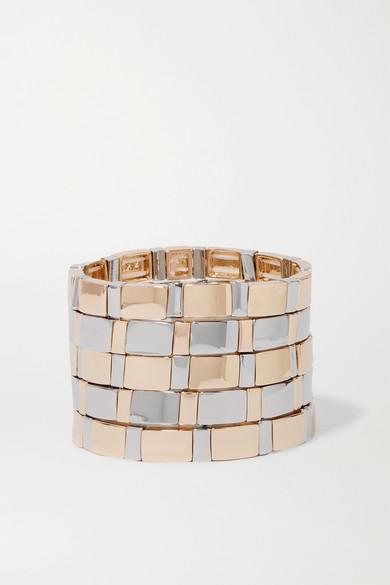 ROXANNE ASSOULIN Gold Standard Set Of Five Silver And Gold-Tone Bracelets