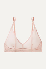 Ophelia cotton-tulle soft-cup triangle bra