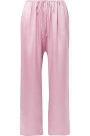Roseta stretch-silk satin pajama pants
