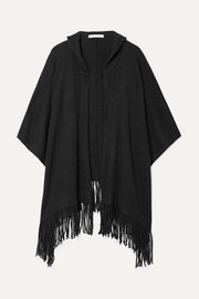 Gabriella hooded fringed cashmere cape