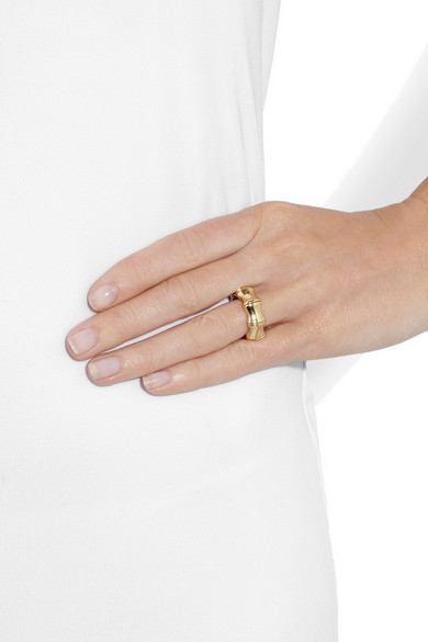 e869de29835bb 18-karat gold bamboo ring