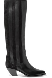 Golden Goose Deluxe Brand Nebbia suede-paneled embroidered leather knee boots