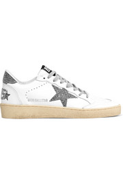Golden Goose Deluxe Brand Ball Star Swarovski crystal-embellished leather sneakers
