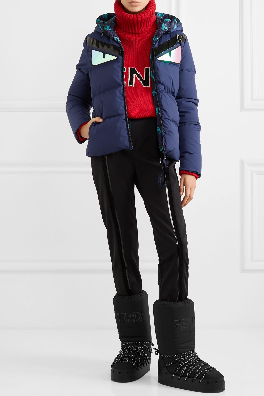 Fendi Appliquéd quilted down jacket