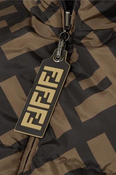 2f4be787b6 Fendi. Reversible wool blend-trimmed printed quilted down ski jacket.  £2