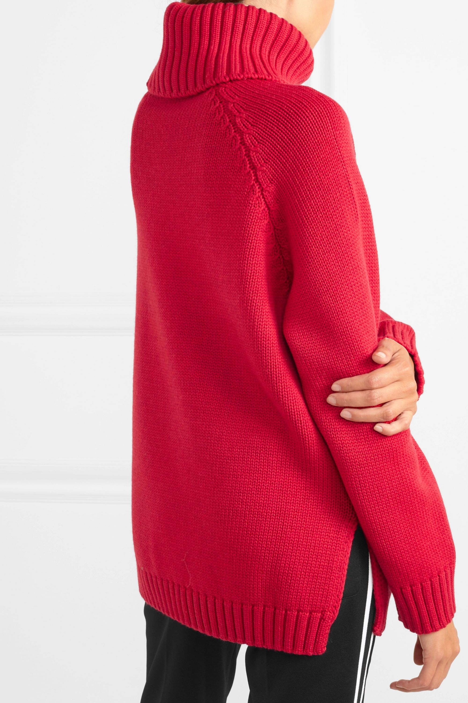 Fendi Intarsia-knit wool turtleneck sweater
