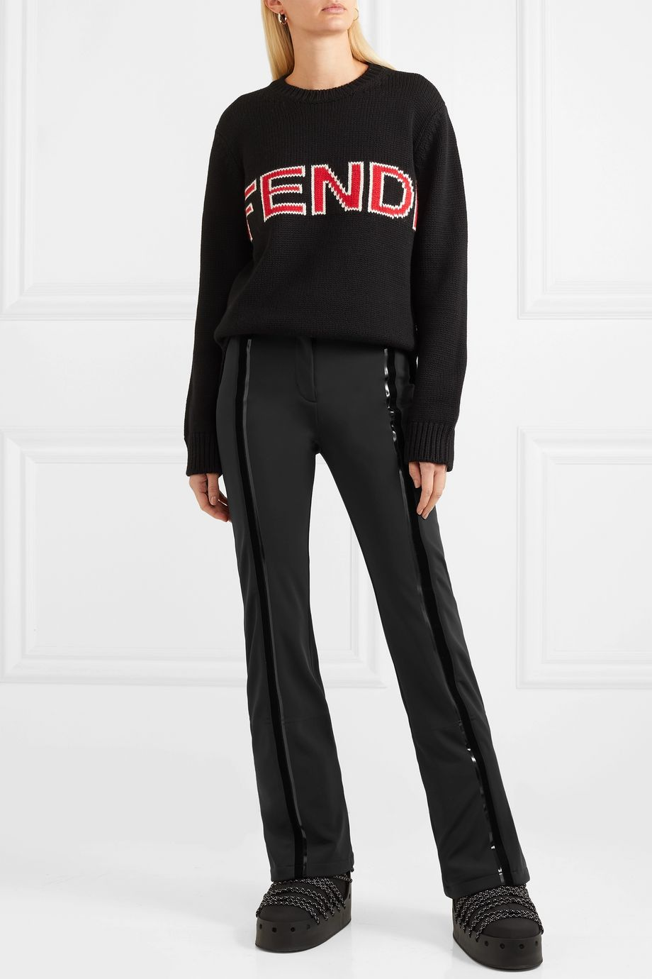 Fendi Roma stretch-cady flared ski pants