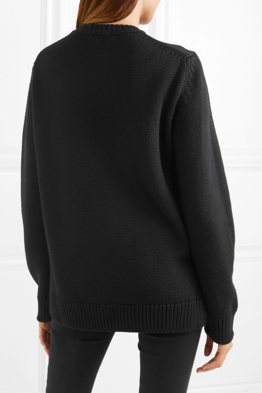 Fendi Intarsia fleece wool sweater