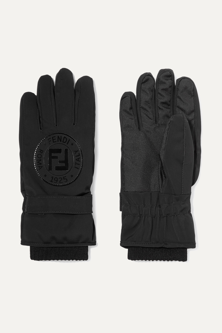 Fendi Appliquéd stretch-jersey ski gloves