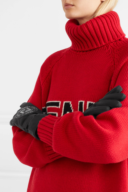 Fendi Appliquéd stretch-jersey ski gloves