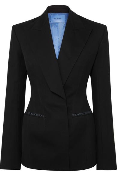 MUGLER Wool-twill blazer