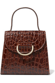 Little Lady croc-effect leather tote