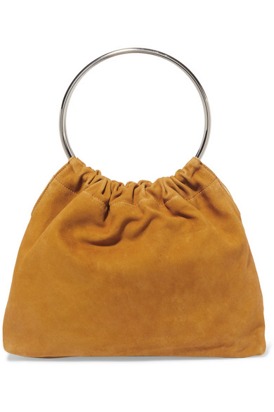 LITTLE LIFFNER Ring Small Suede Tote in Yellow