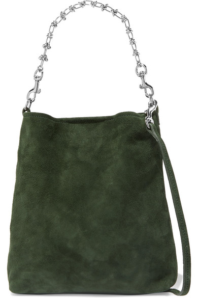 LITTLE LIFFNER Candy Suede Tote in Green