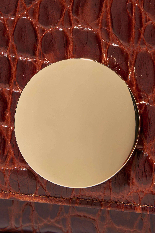 Little Liffner Sac porté épaule en cuir effet croco Baguette