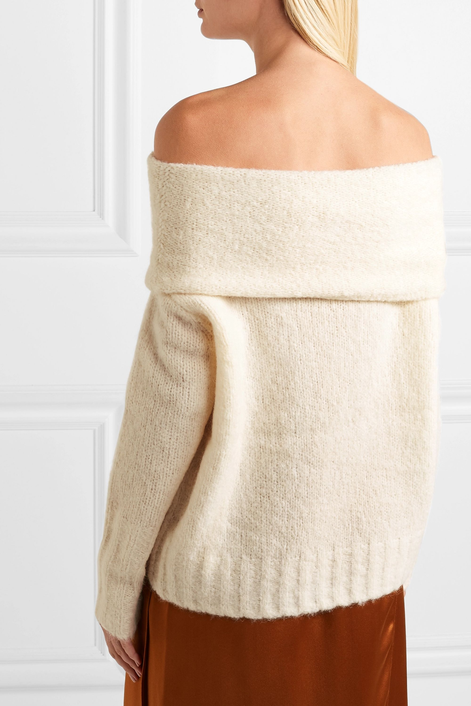 Vince Off-the-shoulder alpaca-blend sweater
