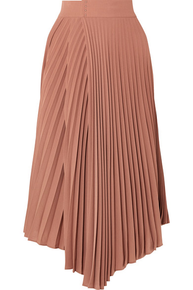 3955933987 Vince | Pleated crepe de chine wrap skirt | NET-A-PORTER.COM