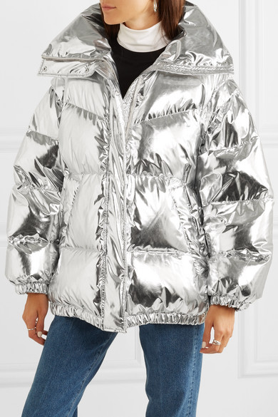 a3a2efec4 MM6 Maison Margiela | Oversized quilted metallic shell down jacket ...