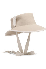 Telescope grosgrain-trimmed wool-felt hat