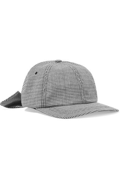 CLYDE HOUNDSTOOTH WOOL-FELT BASEBALL CAP  752d904169e
