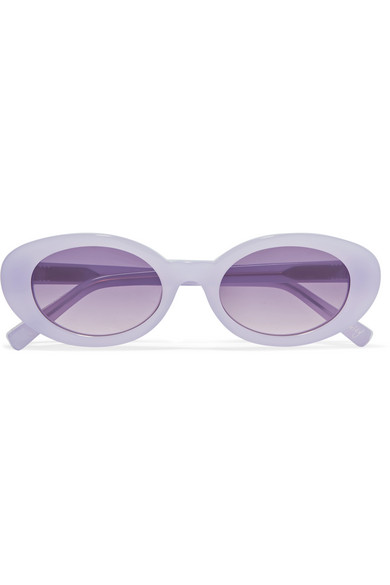 Elizabeth and James - Mckinley Oval-frame Acetate Sunglasses - Lilac