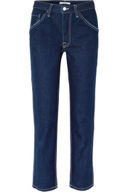 Janice high-rise straight-leg jeans