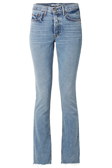 Addison High-Rise Boot-Cut Jeans - Blue Size 28 in Mid Denim
