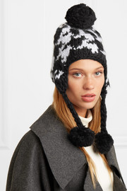 Skye pompom-embellished wool hat