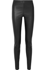 Elenasoi stretch-leather leggings
