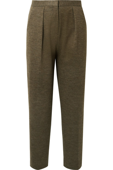 Pillio Cropped Woven Tapered Pants by By Malene Birger