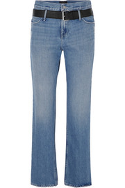 Dexter belted distressed jeans