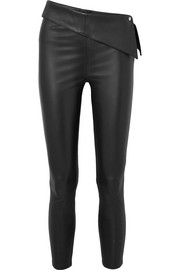 RtA Rumer cropped stretch-leather leggings
