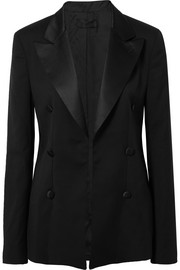 RtA Grayson silk satin-trimmed wool blazer