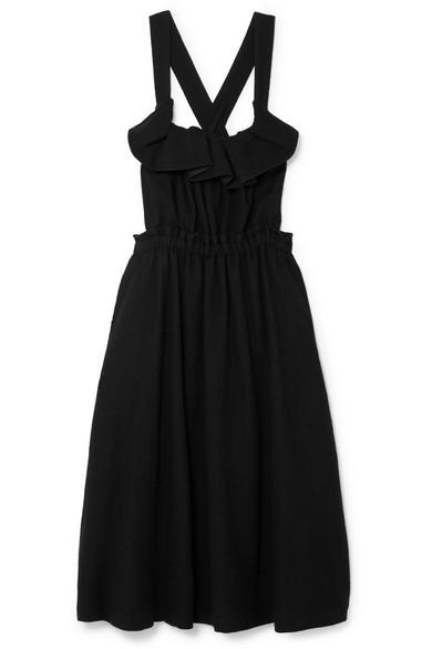 NOIR KEI NINOMIYA Ruffled Wool Dress in Black