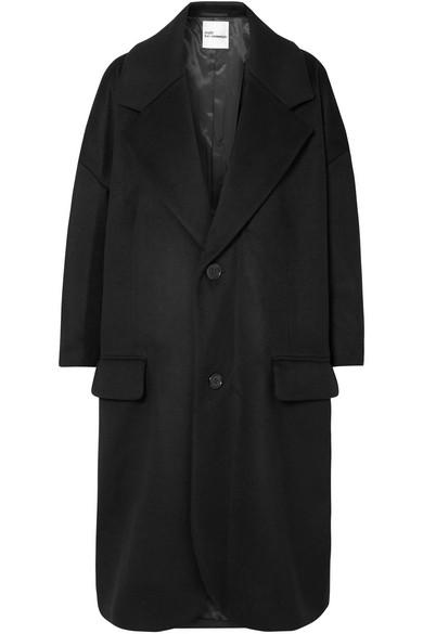 NOIR KEI NINOMIYA Wool-Blend Coat in Black