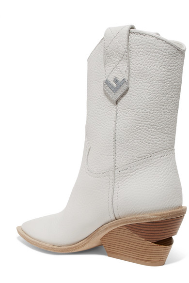 6aee320986 Fendi | Textured-leather boots | NET-A-PORTER.COM