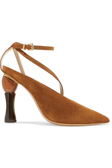 Geometric Heel Pumps in Brown