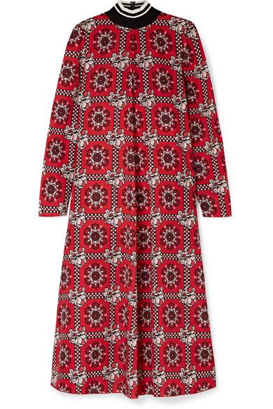 REDValentino - Printed Crepe De Chine Midi Dress