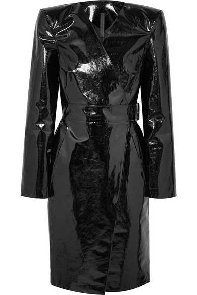 GARETH PUGH Belted Pvc Wrap Dress in Black