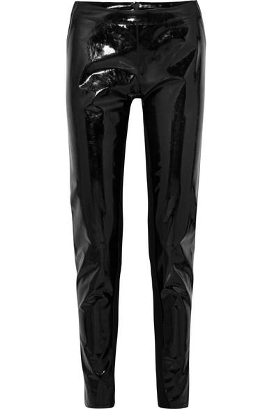 GARETH PUGH Pvc And Stretch-Knit Leggings in Black