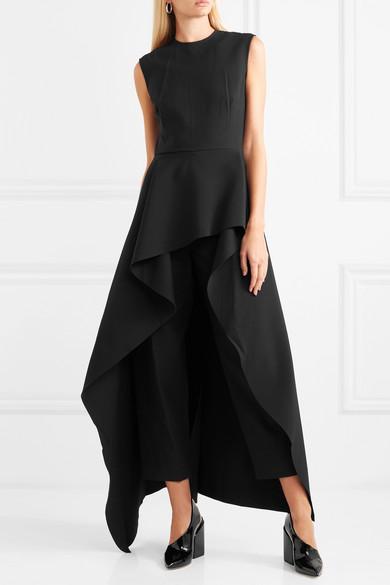 f7c4390d059 Solace London. Soraya asymmetric ruffled crepe jumpsuit