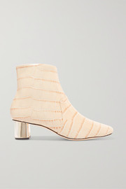 Nanushka Clarence croc-effect leather ankle boots