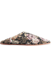 Babou floral-jacquard slippers
