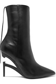 Unravel Project Leather ankle boots