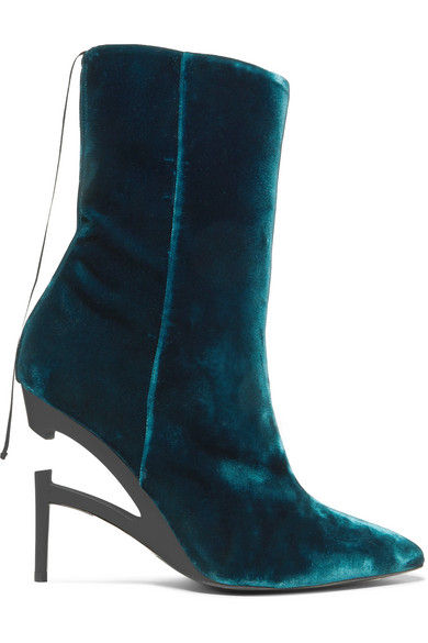 Unravel Project Ankle | Ankle Project Boots aus Samt ca7565