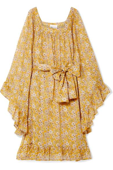 LISA MARIE FERNANDEZ ANITA FLORAL-PRINT COTTON-VOILE DRESS