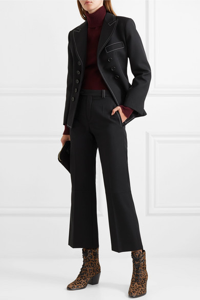 d9dee86295 Diane von Furstenberg | Dakota lace-up leopard-print calf hair ankle ...