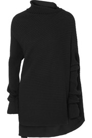 Marques' Almeida Asymmetric ribbed merino wool sweater