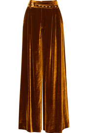 Marques' Almeida Belted velvet wide-leg pants