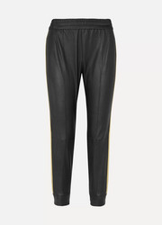 SPRWMN Striped stretch-leather track pants
